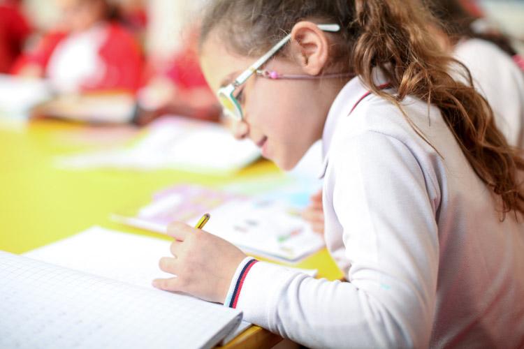 Gulf British Academy pupil studying