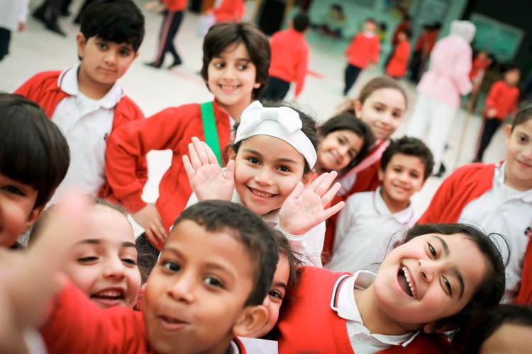 Gulf British Academy happy pupils
