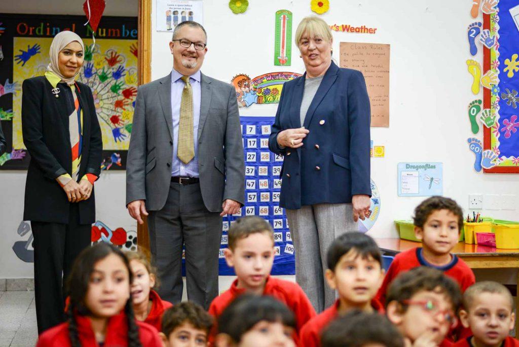 British Ambassador visits a GBA classroom