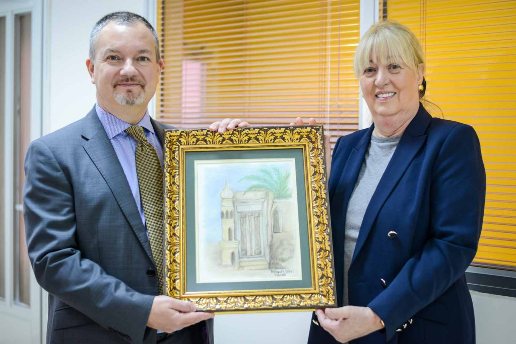 British Ambassador receives painting from Head of GBA