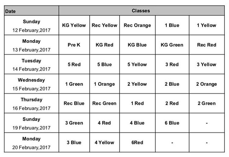 school photos schedule