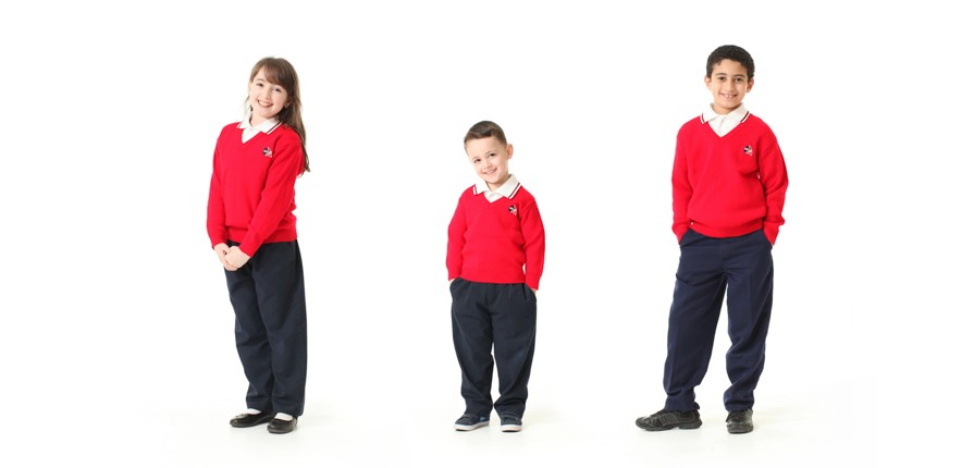 pupils posing for their school photos