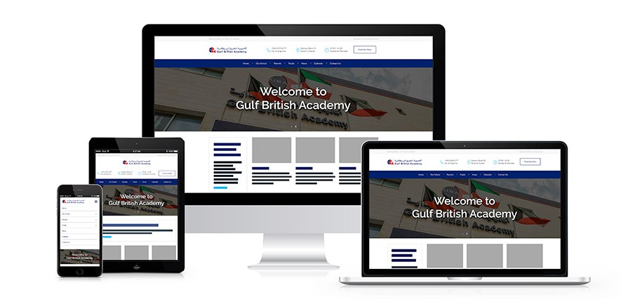 GBA's new website displayed on different devices