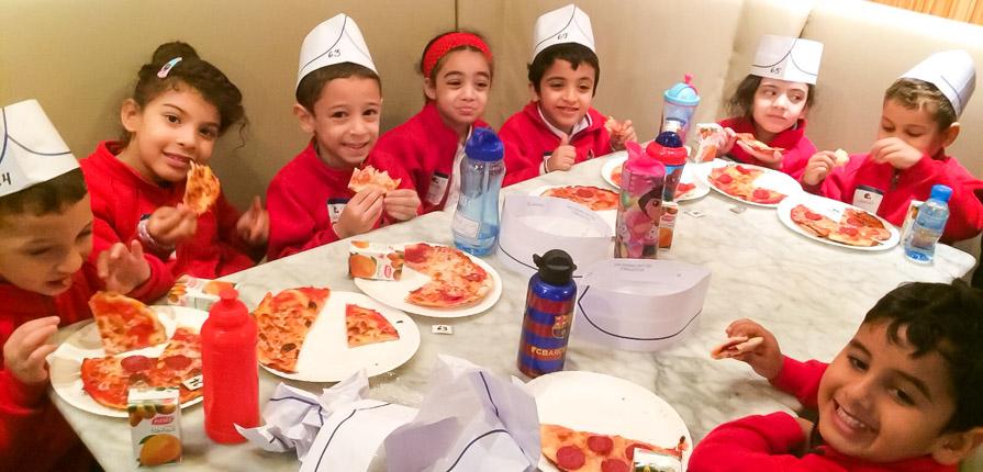 Reception visit Pizza Express - Gulf British Academy