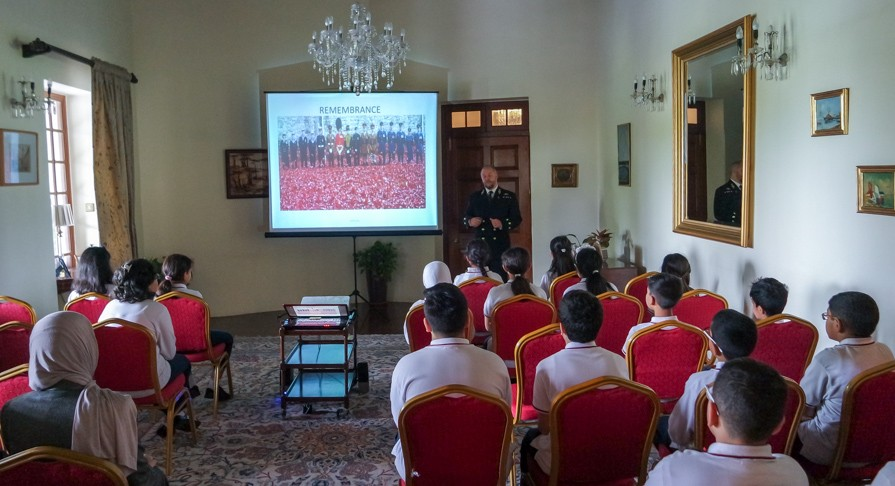 Remembrance Presentation - Year 6 at the British Embassy, Kuwait