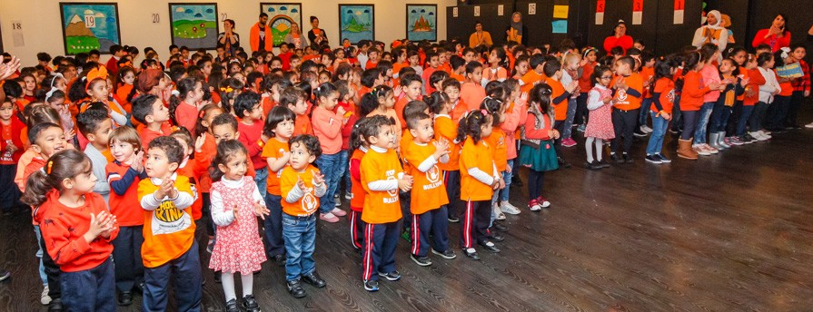 EYFS during Orange Day