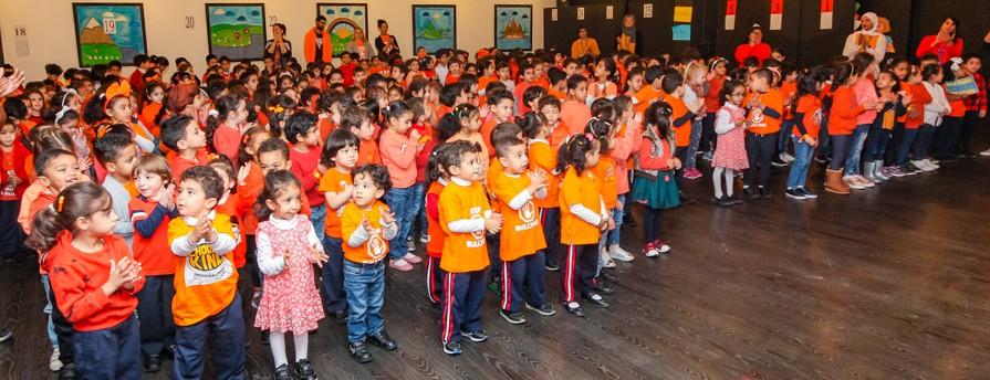 EYFS during Orange Day