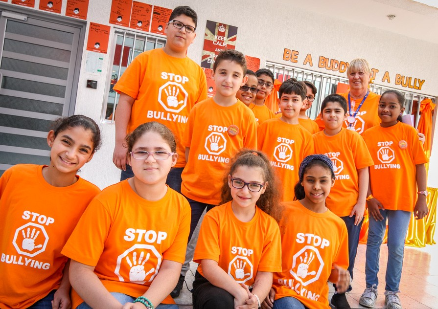 Anti-bullying T-shirts worn by our pupils