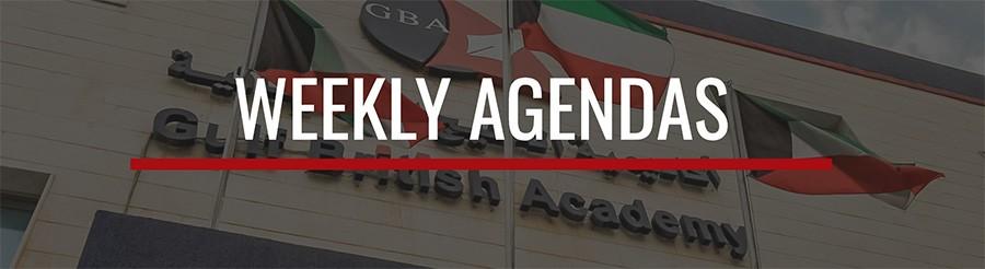 Weekly Agendas